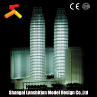 commercial building plans model, custom-made logo building scale model maker