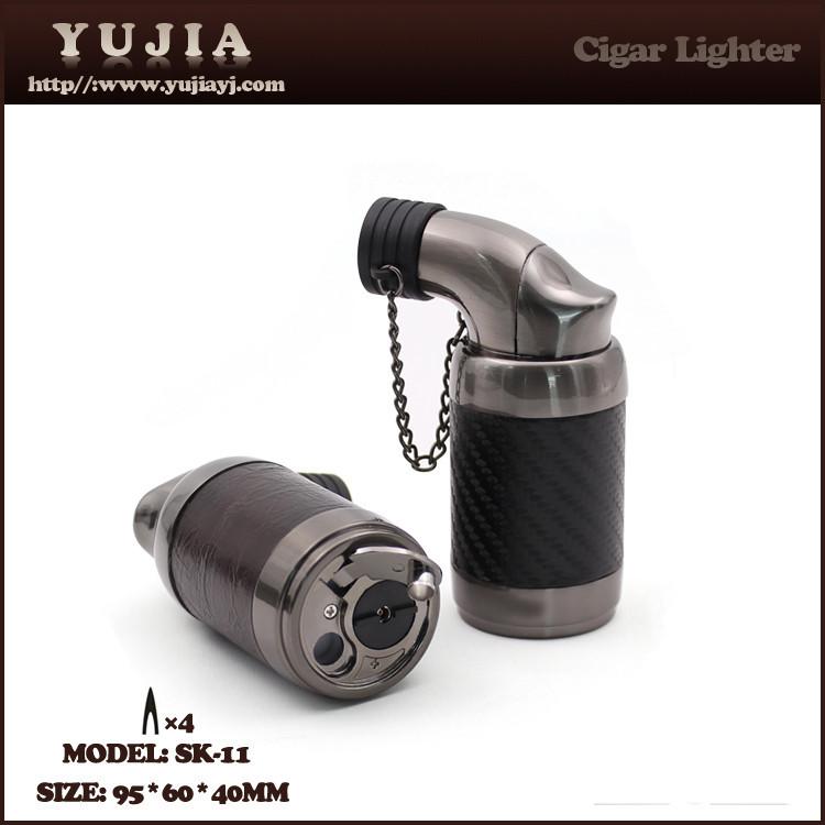 yujia 사용자 정의 가죽 프로모션 선물 휴대용 시가 라이터 도매 SK-11