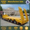 Tri-axle low bed semi trailer for Heavy Duty Transportation