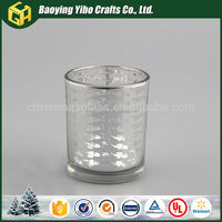 Durable in use glass ornaments bulk glass candle cup