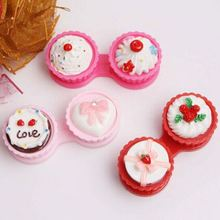 Sweet Colored Cake Shaped Lenses Box Case High Quality Mini Lens Bag Promotional Gift Eyewear Cases