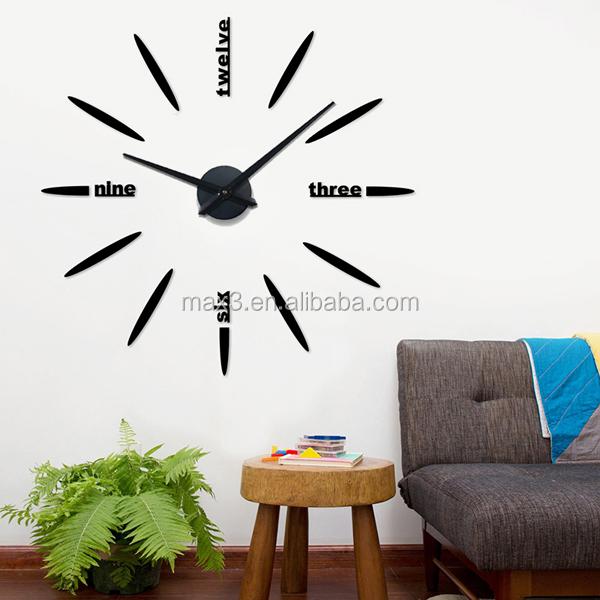 Wohnzimmer und Kamin wohnzimmer uhren modern : Original brand 100 cm spezielle große DIY 3D Uhr Wohnzimmer Große ...