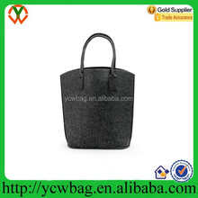 Simple design grey felt tote shopping bags for gift or promotion