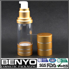 good rating Hot selling free samples aluminum airless bottle for night cream