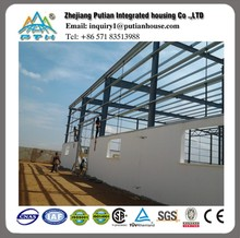 Pre engineered Low cost steel frame workshop in Africa