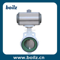 Rubber PTFE sealing wafer concentric butterfly valve