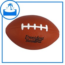 promotional gift imprint logo custom PU Football Stress Squeeze Toy