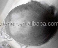 Alibaba express stock synthetic grey men toupee with bottom price and high quality