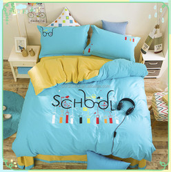 2015 Hot selling american size Children/baby Colorful cotton printed bed modern home bedroom furniture set