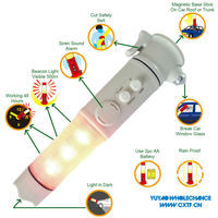 5 in 1 Glass Hammer Beacon Emergency Auto Led Flashlight