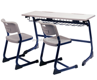 Durable School Furniture Attached School Desk And Chair