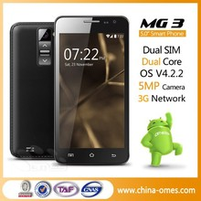 """Low Price Cheap Welcome OMES MG3 5.0inch 3G android 5"""" dual core unlocked smart phone"""