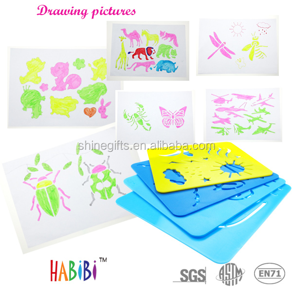 Fashin plastic stencil for drawing set