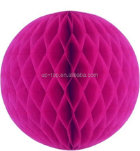 2015 popular !!!Tissue Paper Honeycomb Ball for Christmas decoration