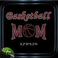 Basketball Mom Korea AA Rhinestone Hot Fix Motif