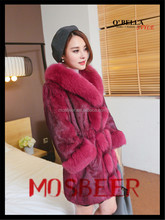 2015 New garment/real rabbit fur knitting ladies' vest/real fur/ wholesale and retail