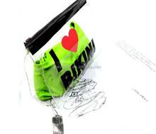 Custom logo printed plastic PVC travel make up bag