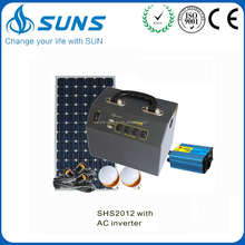 2015 best selling top quality 12V/220V 300W solar home lighting system cost