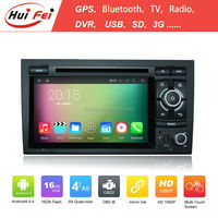 Huifei Quad Core A9 Android 4.4 Capacitive 1024*600 In Car Entertainment For Audi A4 Dvd Gps Navigation Radio Tv Bluetooth Ipod