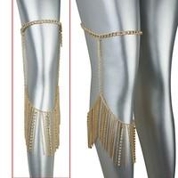 Newest body chain designs,cheap leg bdoy chain jewelry for women
