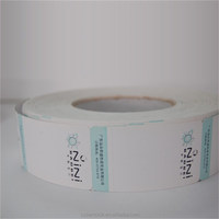 Shantou plant directly supply Clothing garment barcode thermal transfer printing machine hang tag stikcer label by roll