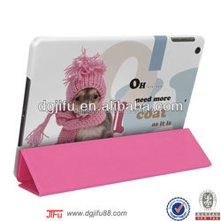 for iPad air case ,PC and PU leather case with kickstand function for iPad air
