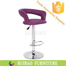Adjustable PU Barstool lift chair swivel chair gas lift with footrest