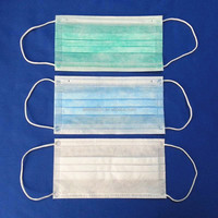Disposable 3 ply earloop face mask surgical mask medical mask