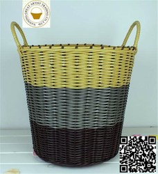 2015 New products laundry basket in square shape green color