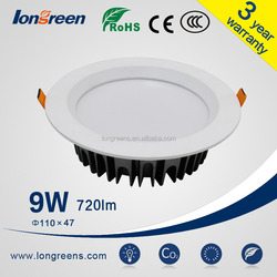 High Quality Round Shape 3/4/6/8inch Dimmable 6W/8W/10W LED Downlight CE Rohs