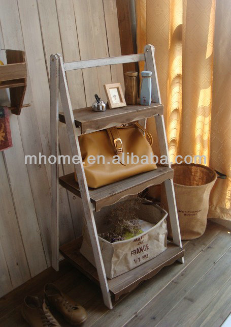 2015 vendita calda shabby chic in legno 3 strati fiore for Scala in legno shabby