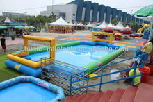 A rectangular inflatable swimming pool, inflatable water games for sale