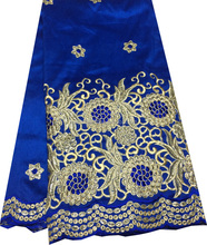 Latest design Lace Product Type and 100% Cotton Material raw silk embroidered indian georges