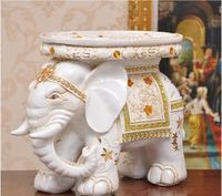 European style colorful diamond Garden statues elephant seat for good fortune