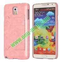 PU Leather Coated Plastic Case Cover for Samsung Galaxy Note 3 N9000 with Card Slot