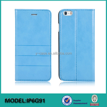 Custom flip leather case for iPhone 6 or iPhone 6 plus, slim stand case with card holder