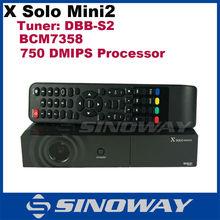 Hot selling Sat tv box Dvb-s2 X-Solo Mini 2 Enigma 2 Linux Satellite Receiver x Solo2 mini Good Quality Accept paypal