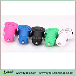 New Arrival Product! Dual USB Car Charger With Round LED Torch 5V 2A Output Smart Sharing