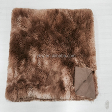 china gift item fluffy and soft long pulsh faux fur mink banket,king size,coffee