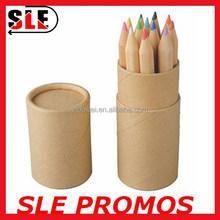 12pcs packing kraft paper tube for mini color pencil set