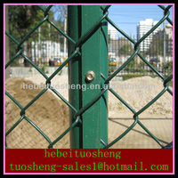 PVC coated, electro galvanized and hot-dipped galvanized cheap green pvc coated chain link fence