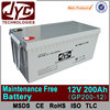 24v 200ah battery,200ah maintenance free battery,200ah 24v sealed lead acid battery
