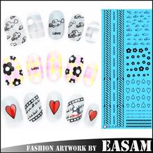 3D Nail Art Tips Stickers False Nail Design Manicure Decals Nail Art Water Nail Art Decal / Tattoo / Sticker
