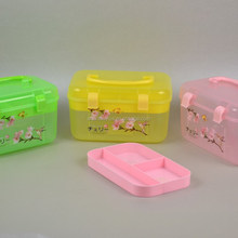 Double Buckle Case With Handle plastic storage box with lock