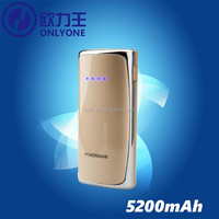 New Product in the market Portable Charger Alibaba China 5200mah Slim USB Mobile Phone Power Bank