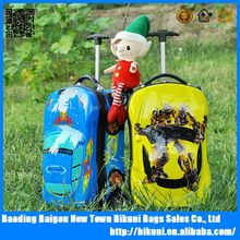 Funny kids luggage, travel luggage bags for kids, luggage case