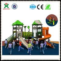 Cheap children outdoor monkey bars playground big plastic slides for sale (QX-026A)
