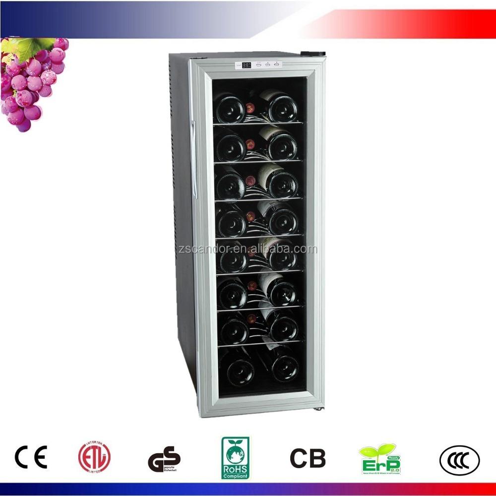 24 Garrafas de Vinho Tinto CW-65AD2 Chillers com Porta Inoxidável