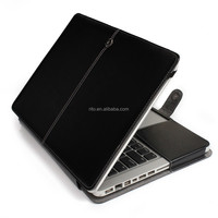 Black PU Leather Protective Laptop Case for Macbook White Unibody