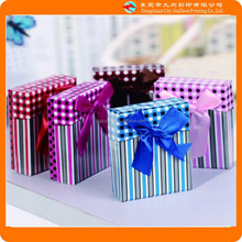 Stripes and dots small gift box/paper box/packaging box